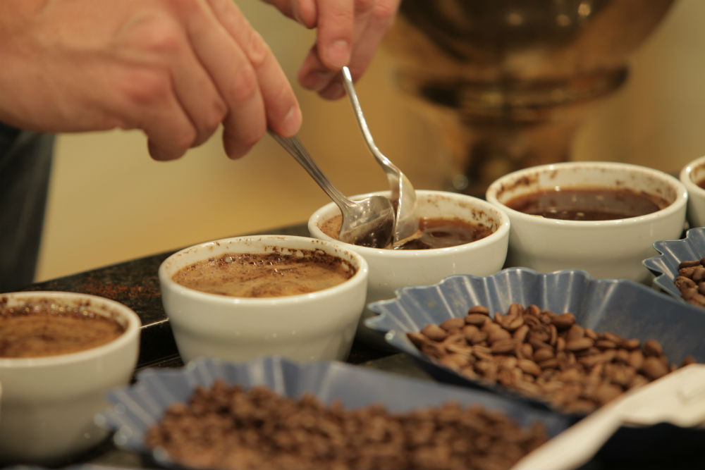 cupping bowl ground tasting