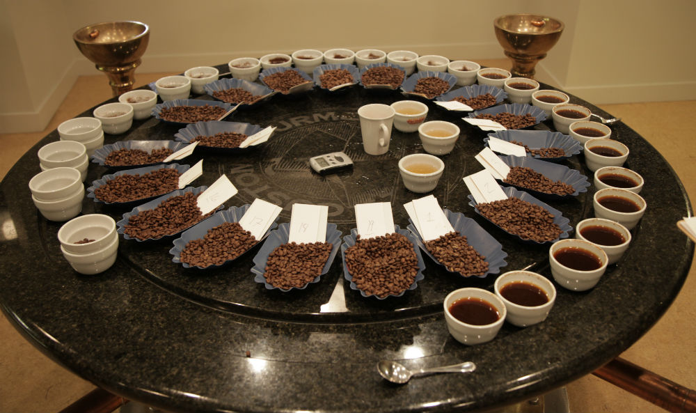fratello cupping table tasting micro lots