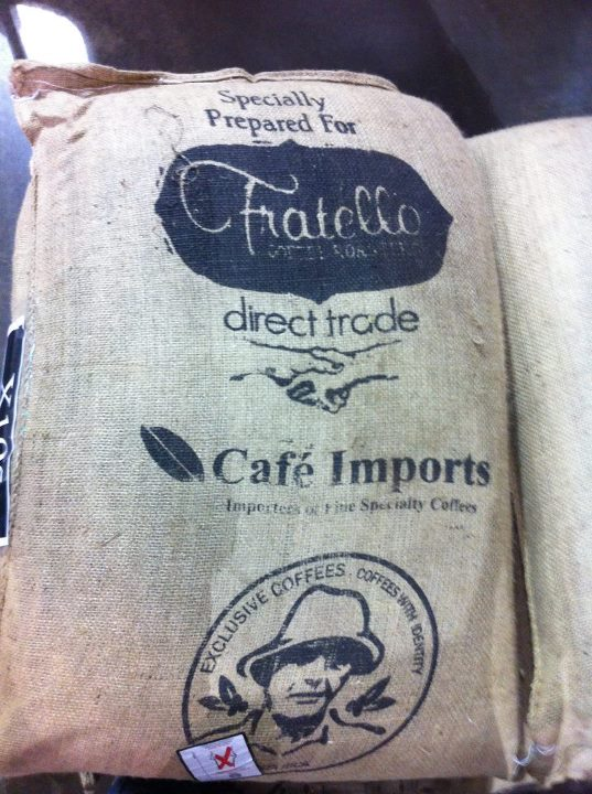 direct trade coffee sack